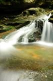 Small waterfall. With blurred water Royalty Free Stock Photo