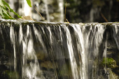 Small waterfall. Note the water is in motion blur Stock Images
