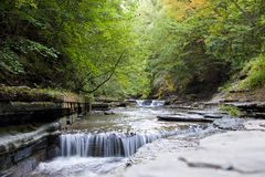 Small Waterfall. In Stony Brook State Park, New York Royalty Free Stock Photos