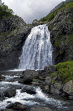 Mountain fall. Small waterfall at abkhazian mountains stock images