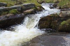 A small waterfall on Afon disgynfa Royalty Free Stock Photos