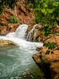 Small Waterfall along Havasu Creek royalty free stock photo