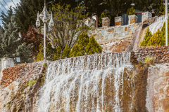 Small waterfall in Ankara Royalty Free Stock Images