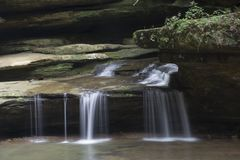 Free Small Waterfall At Old Man`s Cave Royalty Free Stock Images - 126059319