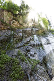 Small waterfall in the bavarian alps Royalty Free Stock Photography