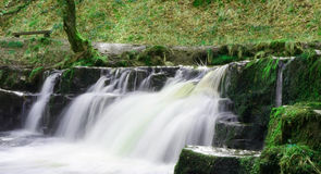 Small waterfall in Brecon Beacons National Park in South Wales in April Royalty Free Stock Photo