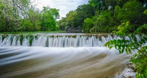Small waterfall on Bull Creek Austin Texas