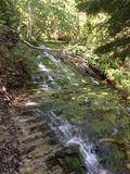 Small Waterfall. A waterfall in canada Stock Photo