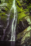 Small waterfall cascading over rocks and into pool Stock Photography