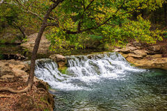 Small Waterfall. At the  Chickasaw National Recreation Area in Sulphur Oklahoma Royalty Free Stock Images