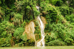 Small waterfall in china nature Royalty Free Stock Image