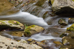 Small Waterfall. A close-up of a small waterfall on Cedar Creek located in Rockbridge County, Virginia, USA Stock Photos