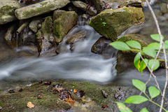 Small Waterfall. A close-up of a small waterfall on Cedar Creek located in Rockbridge County, Virginia, USA Royalty Free Stock Photography