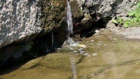 Small Waterfall Closeup stock footage