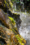 Small waterfall closeup view Royalty Free Stock Images