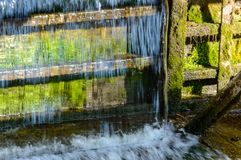 Small waterfall in countryside. Nature in latvia Royalty Free Stock Photo