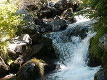 Small Waterfall. Small creek in the mountains of andorra Royalty Free Stock Photos