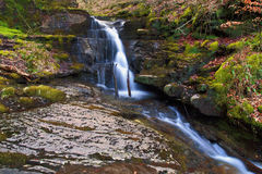 Small waterfall, Creunant just below Pwll y Alun Royalty Free Stock Photos