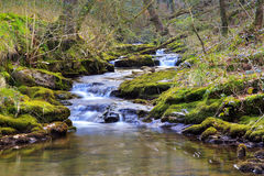 Small waterfall, Creunant just below Pwll y Alun Royalty Free Stock Image