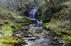 Small waterfall, Creunant just below Pwll y Alun Royalty Free Stock Photo