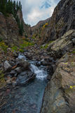 Small waterfall with crystal clear water Colorado Stock Photography