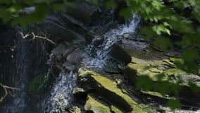 Small Waterfall in cuyahoga stock video footage