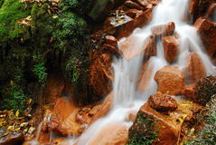 Small waterfall in Czechswitzerland national park. National park is full of small waterfalls and nice stones Stock Images