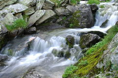 Small waterfall in Czechswitzerland national park Stock Photo