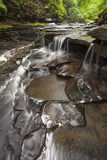 Small waterfall deep in the woods. At Bozenkill Preserve Royalty Free Stock Photography