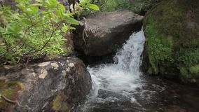 A small waterfall stock footage