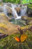 Small waterfall. Erawan Kanchanaburi Thailand Stock Photography
