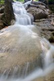 Small waterfall in Erawan Royalty Free Stock Photos