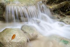 Small waterfall in Erawan Royalty Free Stock Images