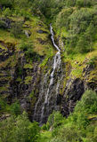 Small Waterfall - Fjord in Norway - Lofoten Stock Images