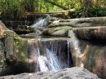 Small waterfall in forest Stock Photography