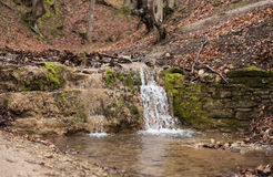 Small Waterfall in Forest Royalty Free Stock Photo