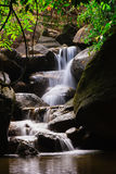 Small waterfall in the forests Stock Photo