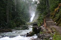 Small Waterfall in Glacier National Park Stock Photo