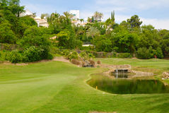 Small waterfall golf Stock Photography