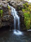 Small waterfall. A small waterfall and grass Stock Photography