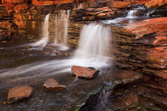 Small waterfall in the Hancock Gorge, Karijini NP, Western Austr Stock Photography
