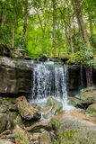 Small Waterfall on the Hike to Rainbow Falls. Near Gatlinburg Stock Images