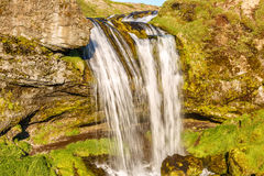 Small waterfall in Iceland. Stock Photo