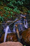 Small waterfall in indonesian forest royalty free stock images