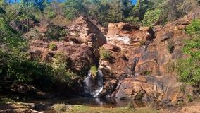 Small waterfall in the interior of Brazil royalty free stock photos