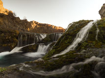 Small waterfall on Iceland Royalty Free Stock Photography