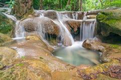 Small waterfall at Kanchanaburi. Thailand Royalty Free Stock Photos