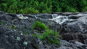 Small waterfall. In the Karelia royalty free stock images