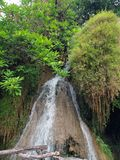 Small waterfall on the Kwai river Royalty Free Stock Images