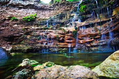 Small waterfall landscape Royalty Free Stock Photography